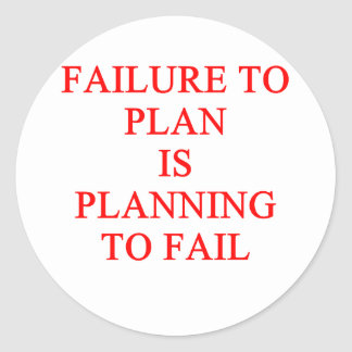 FAILure to pln Classic Round Sticker