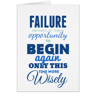 Failure! Vintage Typography Inspirational Card