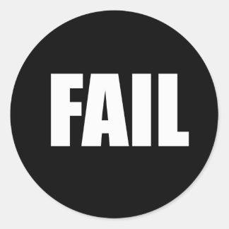 failwht classic round sticker