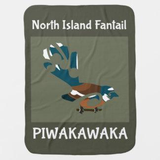 Faintail New Zealand Aotearoa Bird Baby Blanket