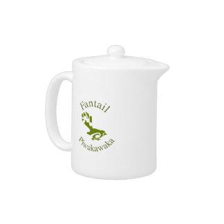 Faintail New Zealand Aotearoa Bird Teapot
