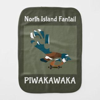 Faintail New Zealand Bird Baby Burp Cloth
