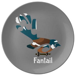 Faintail New Zealand Bird Porcelain Plate