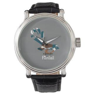 Faintail New Zealand Bird Wrist Watch