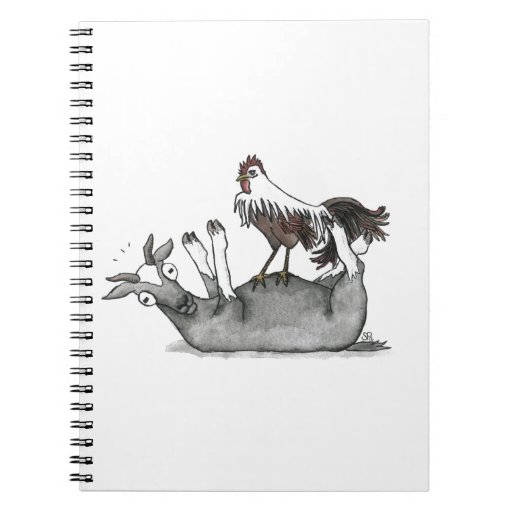 Fainting Goat And Chicken Notebook