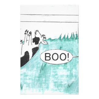 Fainting Goat Halloween Stationery