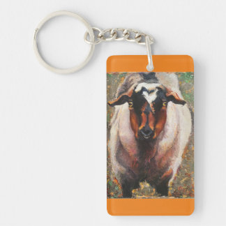 Fainting Goat Key Chain