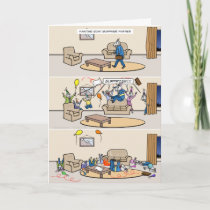 Fainting Goat Surprise Parties Card