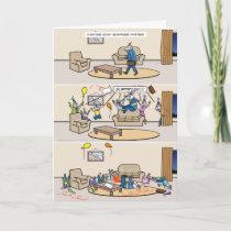 Fainting Goat Surprise Parties Card