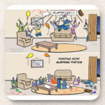 Fainting Goat Surprise Parties Coaster