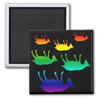 Fainting Goats 2 Inch Square Magnet