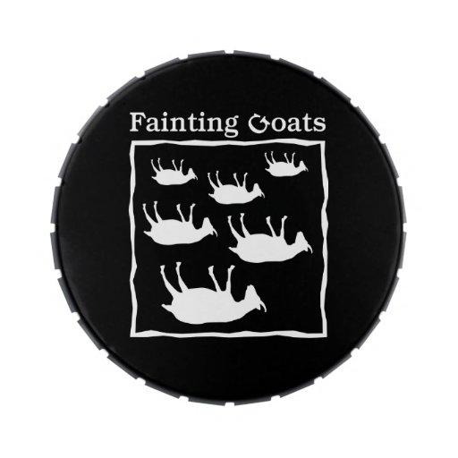 Fainting Goats Candy Tin