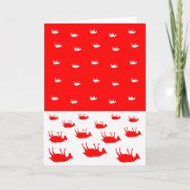 Fainting Goats Christmas Card