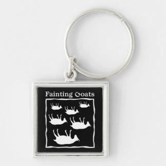 Fainting Goats Keychain