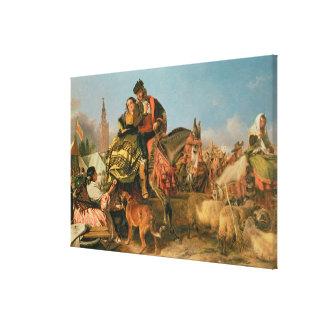 Fair at Seville Canvas Print