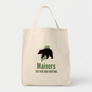 Fair Bear Hunt Organic Tote Grocery Tote Bag