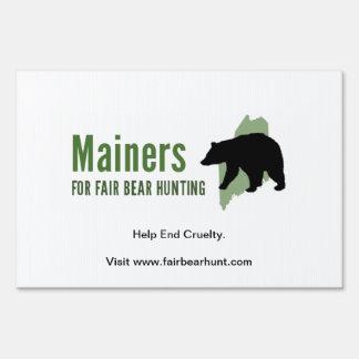 Fair Bear Hunt Yard Sign