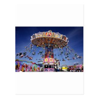 fair carnival ride postcard