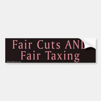 Fair Cuts AND Fair Taxing Bumper Sticker