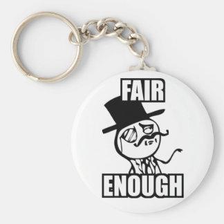 Fair Enough Meme Keychain
