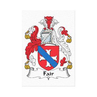 Fair Family Crest Gallery Wrap Canvas