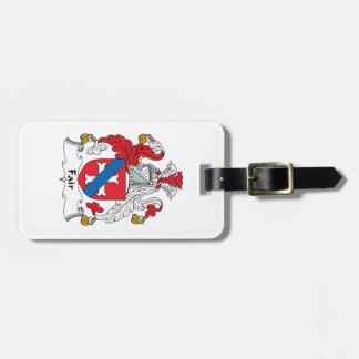 Fair Family Crest Luggage Tag