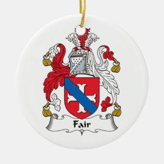 Fair Family Crest Double-Sided Ceramic Round Christmas Ornament