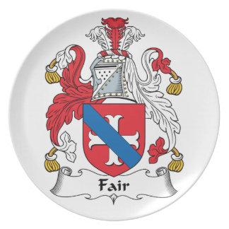 Fair Family Crest Party Plates