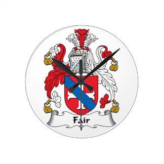 Fair Family Crest Wall Clocks