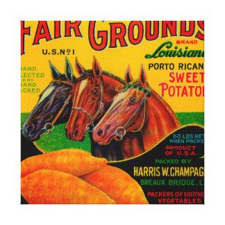 Fair Grounds Yam LabelBreaux Bridge, LA Canvas Print