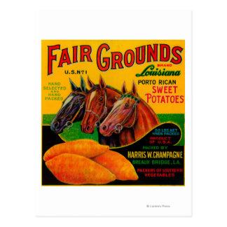 Fair Grounds Yam LabelBreaux Bridge, LA Postcard
