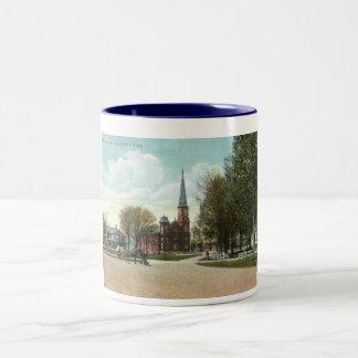 Fair Haven, Vermont New England 1910 Vintage Two-Tone Coffee Mug