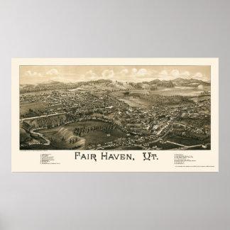 Fair Haven, VT Panoramic Map - 1886 Poster