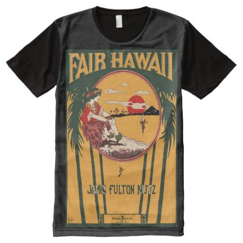 Fair Hawaii Vintage Sheet Music Cover