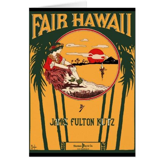 Fair Hawaii Vintage Sheet Music Cover Card