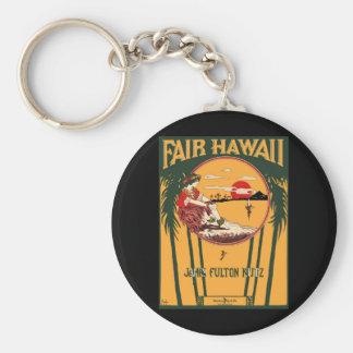 Fair Hawaii Vintage Sheet Music Cover Keychain