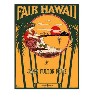 Fair Hawaii Vintage Sheet Music Cover Postcards