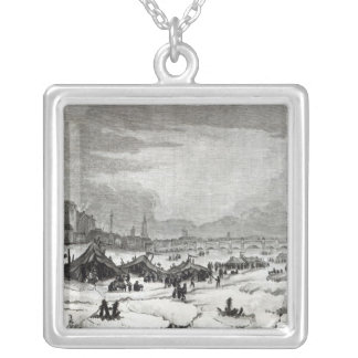 Fair held on the Thames Silver Plated Necklace
