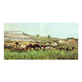 Fair In Sinaia By Grigorescu Nicolae Personalized Photo Card