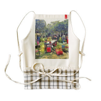Fair in the garden zazzle HEART apron