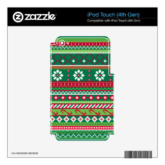 Fair Isle Christmas Pattern iPod Touch 4G Decal