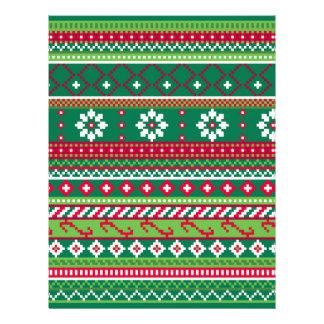 Fair Isle Christmas Pattern Letterhead
