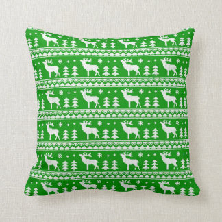 Fair Isle Christmas Sweater Pattern Pillow