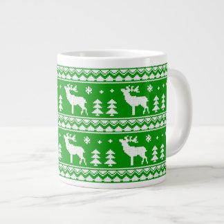 Fair Isle Christmas Sweater Pattern 20 Oz Large Ceramic Coffee Mug