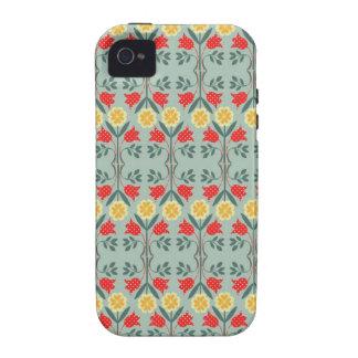 Fair isle fairisle floral pattern iPhone 4S case Case-Mate iPhone 4 Cover