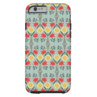Fair isle fairisle floral retro hipster pattern tough iPhone 6 case