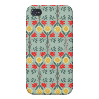 Fair isle fairisle floral retro hipster pattern iPhone 4/4S case