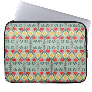 Fair isle fairisle floral retro hipster pattern laptop sleeves