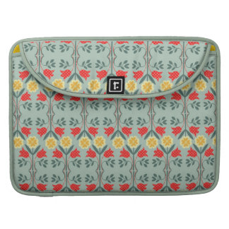 Fair isle fairisle floral retro hipster pattern MacBook pro sleeves