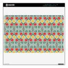 Fair isle fairisle floral retro hipster pattern MacBook skin